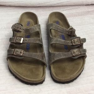 Birkenstock Florida Soft Footbed Size 8 Tobacco